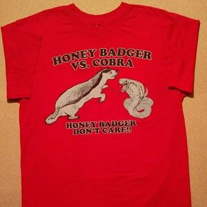 Vintage Honey Badger vs. Cobra T-Shirt - Size: L